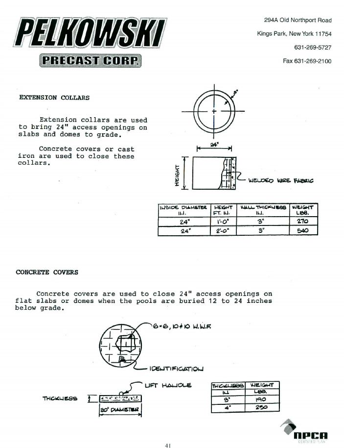 Precast Concrete Collar : Extension collars pelkowski precast